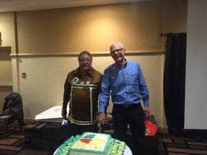 harold & john S-cake cutting anniversary